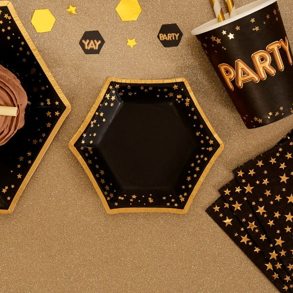 Sada 8papírových talířů Neviti Glitz & Glamour Stars