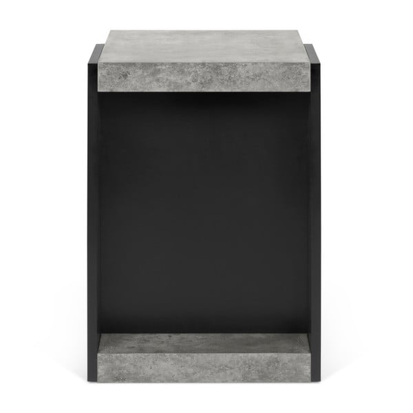 Klaus fekete tárolóasztal betonmintás elemekkel - TemaHome