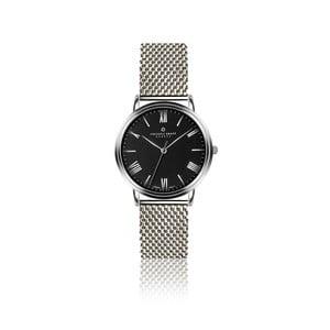 Pánské hodinky s páskem z nerezové oceli s černým ciferníkem Frederic Graff Silver Weisshorn