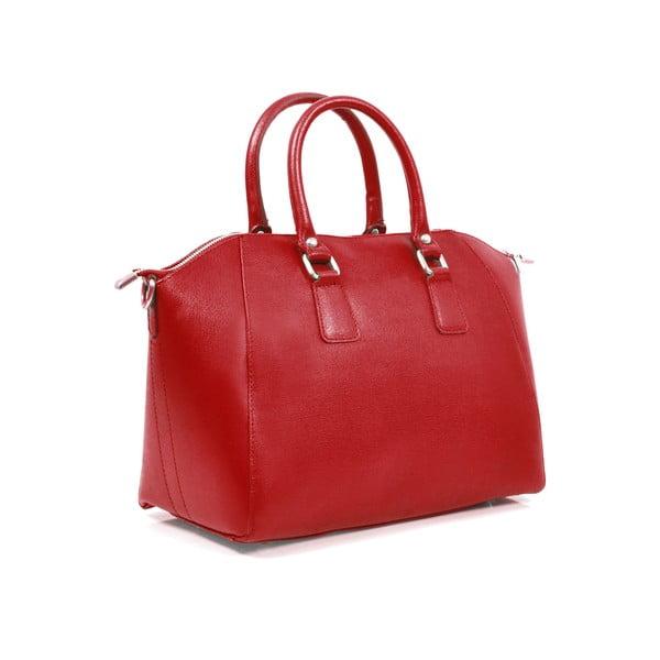 Kožená kabelka Clementine, červená