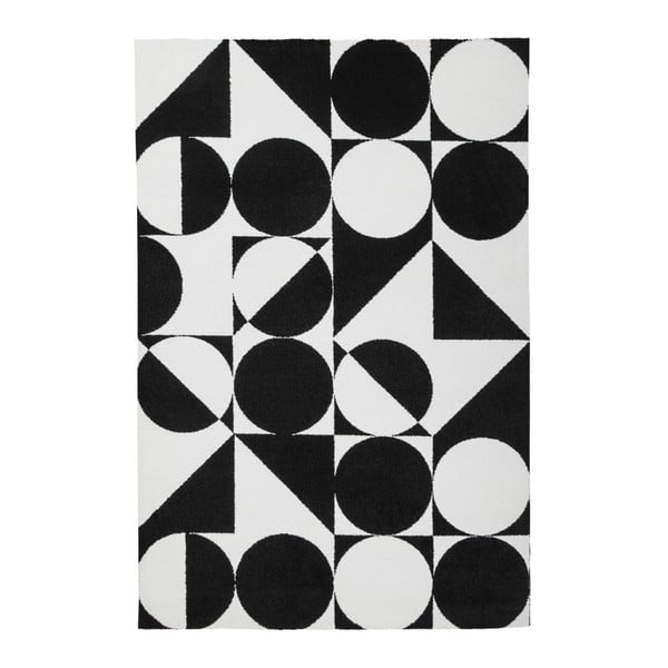 Černobílý koberec Obsession My Black & White Kalo, 120 x 170 cm