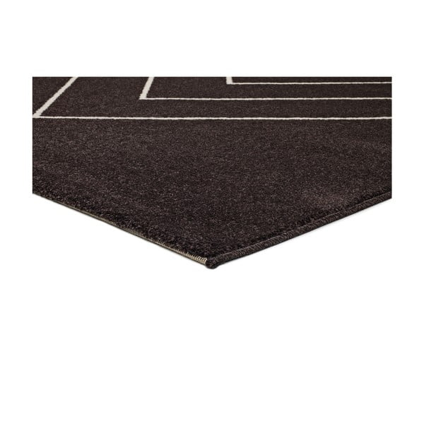 Černý koberec Universal Breda, 250 x 67 cm