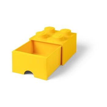 Cutie depozitare cu sertar LEGO®, galben imagine