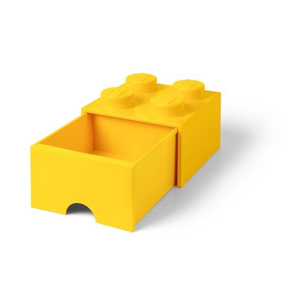 Žltý úložný box so zásuvkou LEGO®