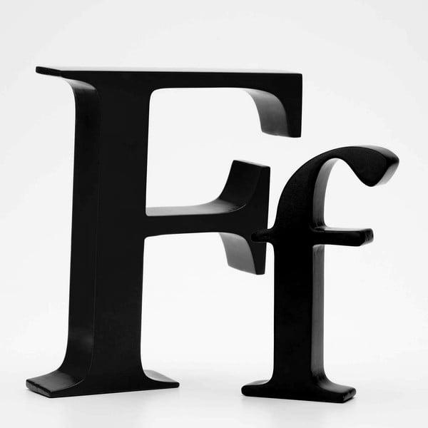 """Velké """"F"""" 17x14 cm, černá"""