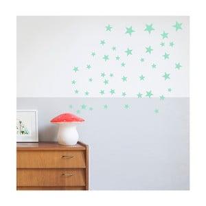 Nástěnné samolepky v mentolové barvě Art For Kids Stars