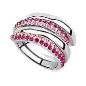 Prsten s krystaly Swarovski Elements Crystals Aline, vel.54