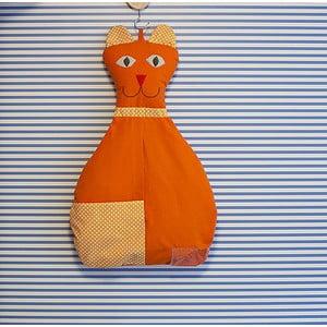 Závěsný kapsář Kočička, oranžová