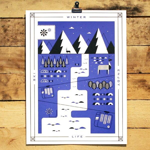 Plakát Winter, 41x30 cm