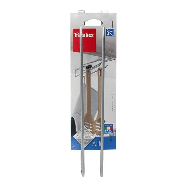 Suport suspendat pentru căni, pahare sau prosoape de bucătărie Metaltex, lungime 8 cm
