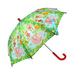Zelený děštník s motivem lenochoda Sass & Belle Boho