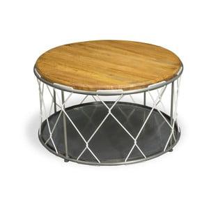 Konferenční stolek z oceli a mangového dřeva Bluebone Rope