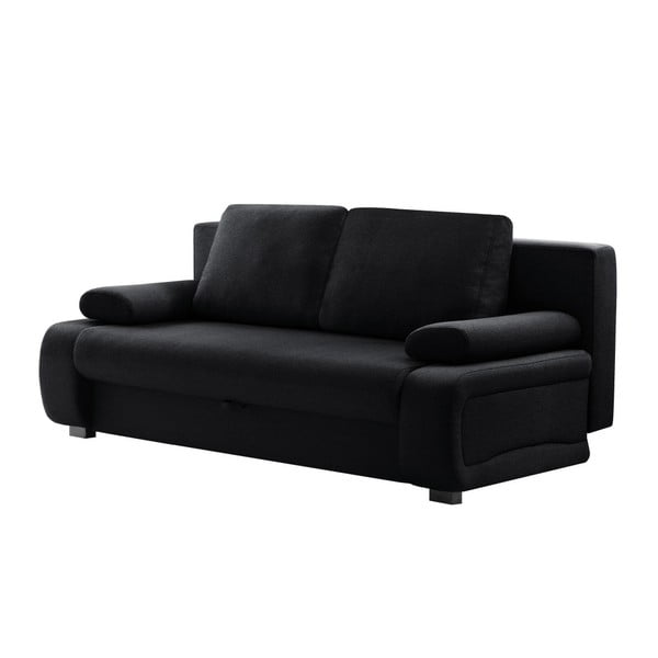 Bonheur fekete háromszemélyes kinyitható kanapé - INTERIEUR DE FAMILLE PARIS