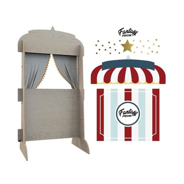 Nástěnný dekorativní stojan na knihy Dekornik Stánek s popcornem