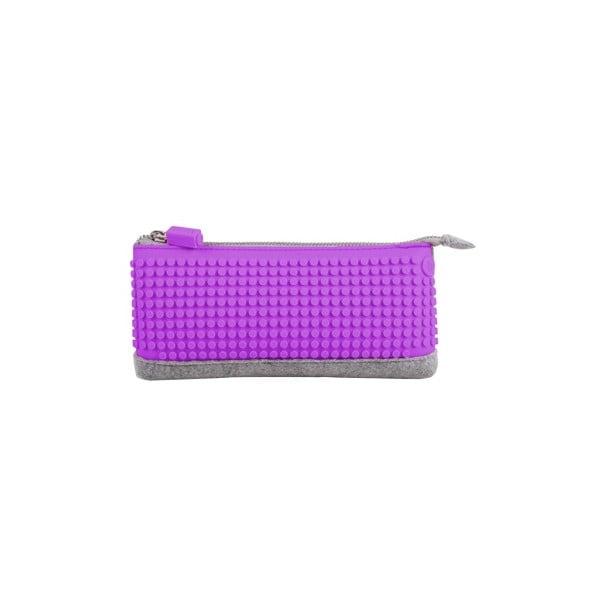 Pixelový penál, grey/purple