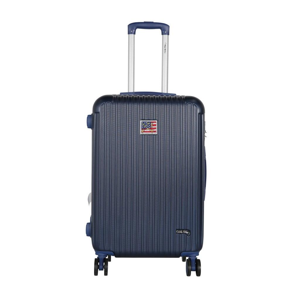 Tmavě modrý cestovní kufr LULU CASTAGNETTE Darwin, 71l