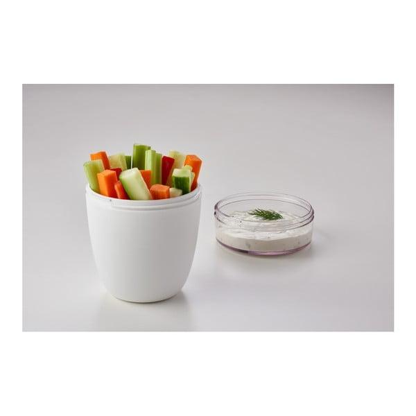 Zelený svačinový box na jogurt Rosti Mepal Ellipse