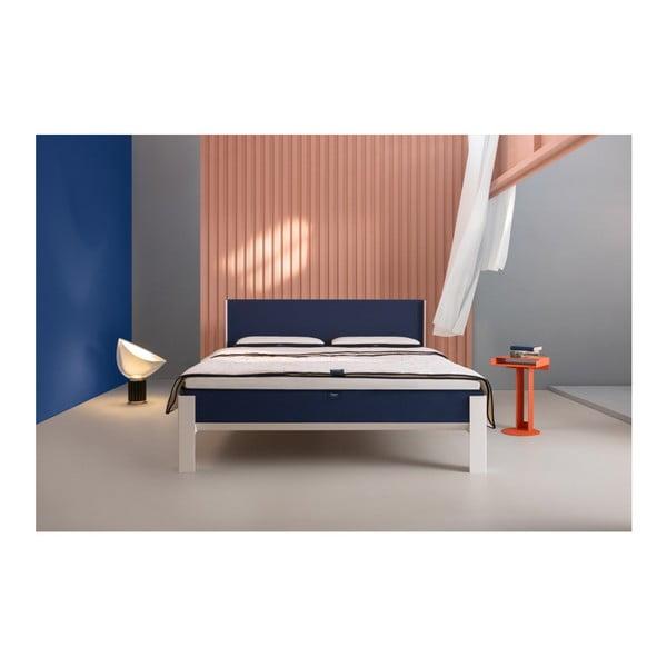 Modré čelo postele muun, šířka 180 cm