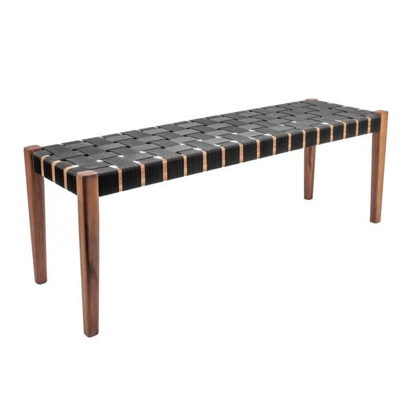 Weave fekete akácfa pad, nejlon huzattal - Leitmotiv