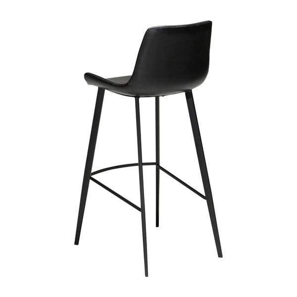 Černá barová židle z eko kůže DAN–FORM Denmark Hype, výška 102 cm