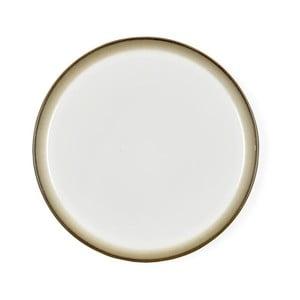 Krémově bílý kameninový mělký talíř Bitz Mensa, průměr 27 cm