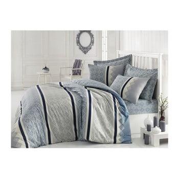 Lenjerie de pat cu cearșaf din bumbac Rihanna, 200 x 220 cm de la Cotton Box