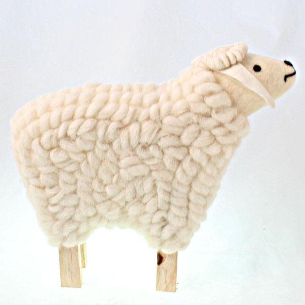 Dekorativní dřevěná ovečka, 55 cm