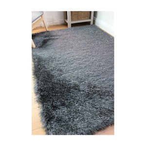 Tmavě šedý koberec Flair Rugs Dazzle Charcoal, 160 x 230 cm