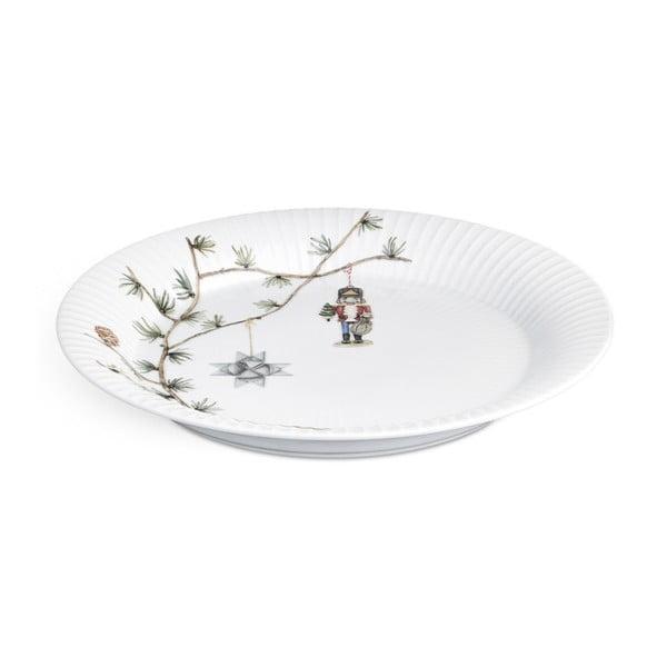 Porcelánový vianočný tanier Kähler Design Hammershoi Christmas Plate, ⌀ 27 cm