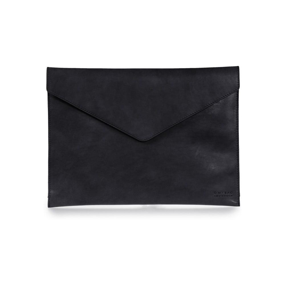 """Černý kožený obal na notebook 13"""" ve tvaru obálky O My Bag"""