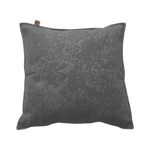 Antracitový polštář OVERSEAS Vintage,60x60cm