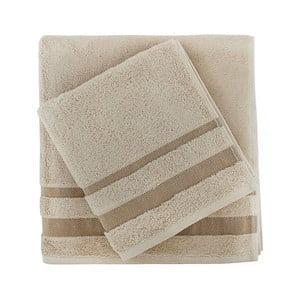 Sada béžového ručníku a osušky Serit