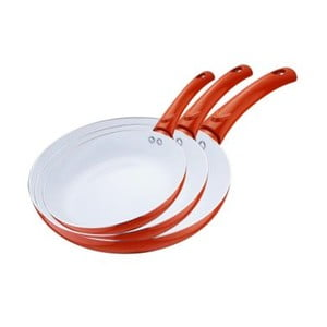 Set pánví Frying Pan Orange, 3 ks