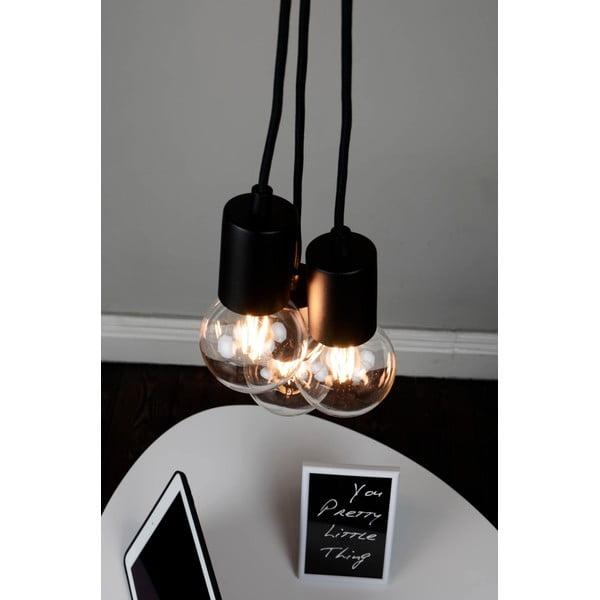Černé závěsné svítidlo se 3 kabely Bulb Attack Cero Group