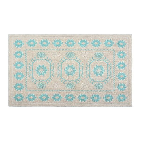 Bavlněný koberec Emily 60x90 cm, tyrkysový
