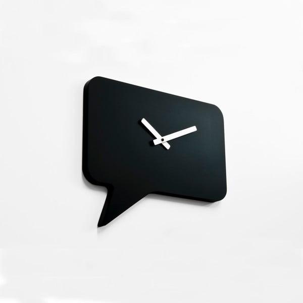 Nástěnné hodiny Bubble Time, černé