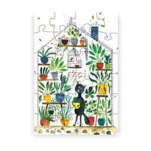 Puzzle z recyklovaných materiálů Pucle Kocúr botanikom, 48dílků