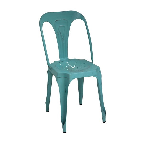 Kovová židle Turquoise Metal