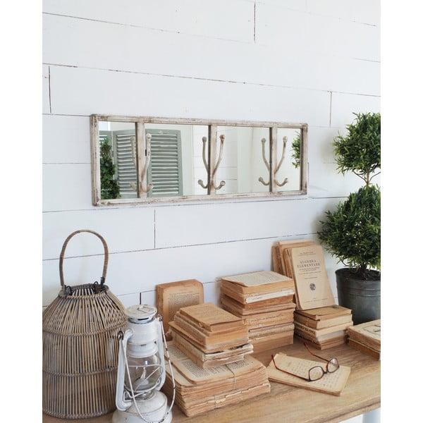 Zrcadlo s háčky Hamptons
