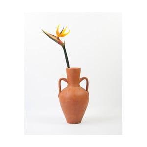 Hnědá jílová váza Surdic Vessel Ave del Paraiso