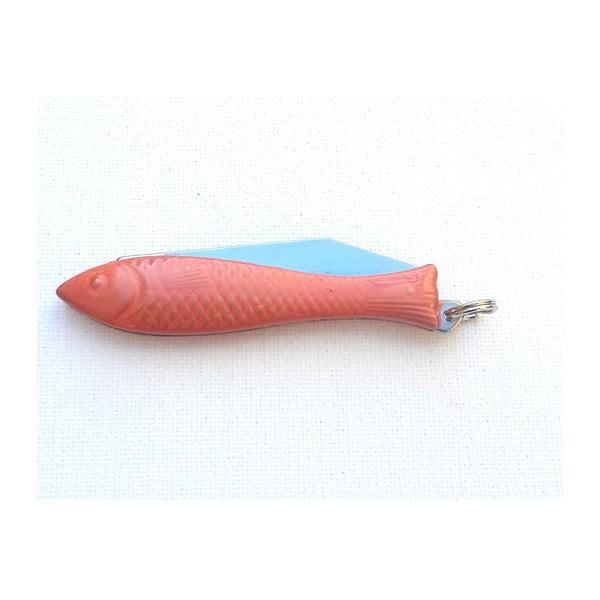 Český nožík rybička, oranžový lak v designu od Alexandry Dětinské