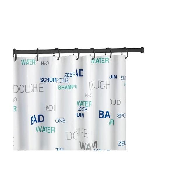 Drążek w czarnym kolorze na zasłonę prysznicową Wenko, dł. 110–185 cm