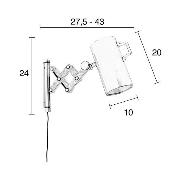 Šedá nástěnná lampa Zuiver Flex