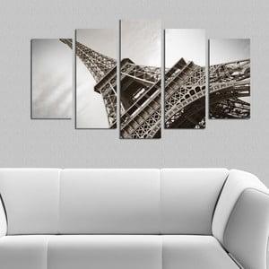 Pětidílný obraz Paříž, 110x60 cm
