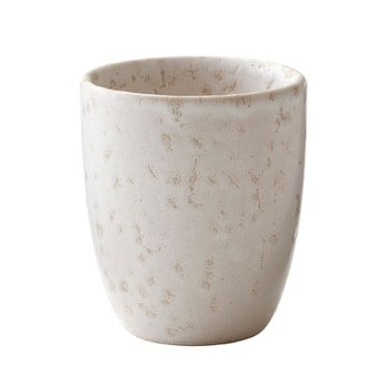 Cană din gresie ceramică pentru espresso Bitz Basics Matte Cream, 100 ml, crem