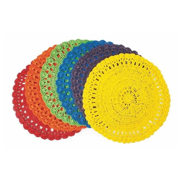 Set 6 suporturi pentru farfurii Villa d'Este Uncinetto, multicolor