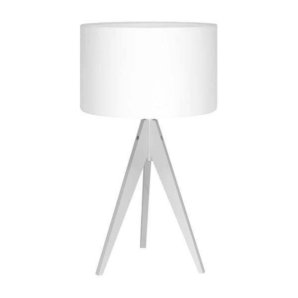 Bílá stolní lampa 4room Artist, bílá lakovaná bříza, Ø 33 cm