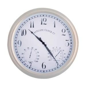 Bílé nástěnné hodiny do exteriéru EsschertDesign
