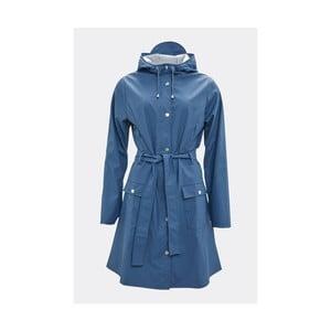 Modrý dámský plášť s vysokou voděodolností Rains Curve Jacket, velikost L/XL