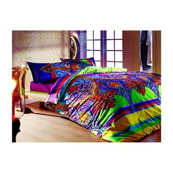 Lenjerie de pat din bumbac cu cearșaf Orient, 200x220cm de la Unknown